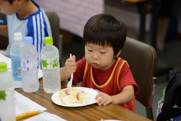 まるきキッズクラブ2012クリスマスケーキ試食会