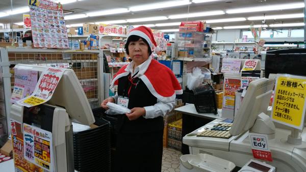 お店でメリークリスマス。
